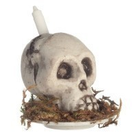 (*) Dollhouse Skull Candle - Product Image