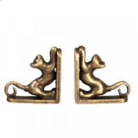 Dollhouse Brass Bookends (Assorted Styles) - Product Image