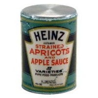 (*) Strained Apricots & Apple Sauce Can - Product Image