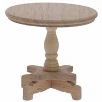 Dollhouse Unfinished Round End Table - Product Image