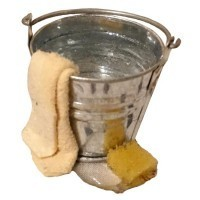 (*) Dollhouse Filled Cleaning Bucket - Product Image