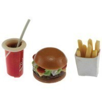 (**) Dollhouse Burger Meal - Product Image