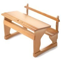 Dollhouse Double School / Student Desk - Product Image