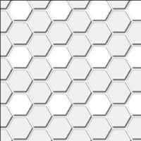 Dollhouse Hexagons Floor Tile- Choice of Color - - Product Image