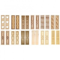 2 pc Dollhouse Shutters- Choice of Styles - - Product Image