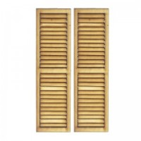 (**) 2 Working Louvered Shutters - Product Image