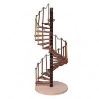 (**) Dollhouse Spiral Staircase Kit - Product Image