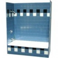 (***) Tub Shower - Silver Hardware (Kit) - Product Image