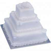 Dollhouse Round or Square Wedding Cake - Product Image