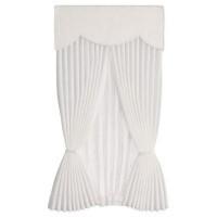 Dollhouse Drape Scalloped Valance - Ecru Vine - Product Image