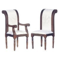 Dollhouse Walnut Dining Chair - Product Image