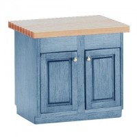(*) Painted Center Island with Butcher Block Top - Product Image