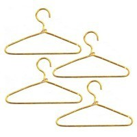 (**) 4 pc Dollhouse Gold Wire Hangers - Product Image