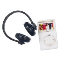 (**) Dollhouse MP3 Player & Head Phones - Product Image