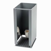 Dollhouse Toilet Cubicle - Product Image