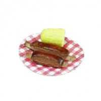 Dollhouse Ribs on Picnic Plates - Product Image