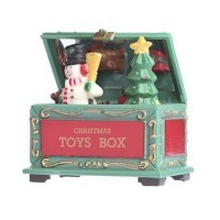 (**) Dollhouse Christmas Toy Chest - Product Image