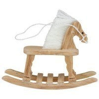 Dollhouse Baby Rocking Horse- Choice of Finish - - Product Image