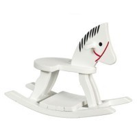 Dollhouse Painted Rocking Horse - Product Image