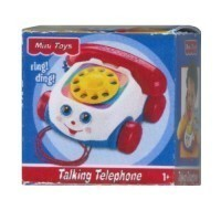 (**) Dollhouse Toy Phone Box - Product Image