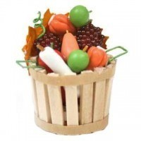 (**) Filled Harvest Bushel Basket - Product Image