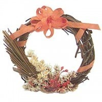 (**) Dollhouse Fall Wreath - Product Image