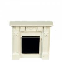 Elizabeth Dollhouse White Fireplace - Product Image