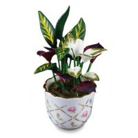Cache Pot With Plant - Product Image