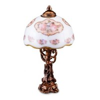 Classic Rose Tiffany Lamp - Product Image