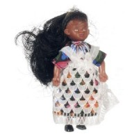 Vinyl DollHouse Doll - Victorian African American Girl - Product Image