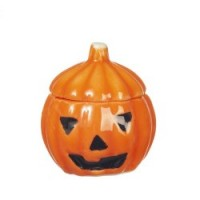 (*) Dollhouse Ceramic Jack-O-Lantern - Product Image