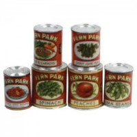 (*) Dollhouse Vintage Fern Park Food Set - Product Image