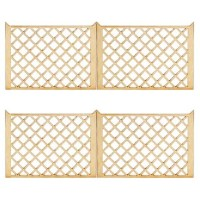 4 pc Dollhouse Crosshatch Fence - Product Image