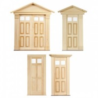 Dollhouse 4 Raised Panels with Glass Door(s) - Product Image