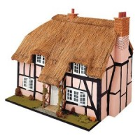 Dollhouse Thatched Cottage Shell (Kit) - Product Image