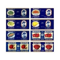 (*) 8 pc Dollhouse Vintage Can or Jar Labels- Choice of Style - - Product Image