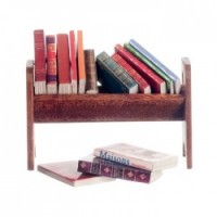 Dollhouse Books in Wooden Rack - Product Image