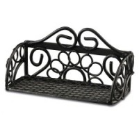 (**) Dollhouse Black Metal Kitchen Shelf - Product Image