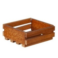 (Close Out) Dollhouse Walnut Stained Crate - Product Image