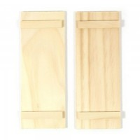 Dollhouse 2 pc Simple Shutters - Product Image