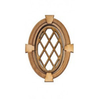 Dollhouse Oval Diamond Keystone Window - Product Image