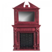 Dollhouse Fedral Fireplace with Mirror - Product Image