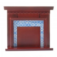 Dollhouse Mahogany Delph Fireplace - Product Image