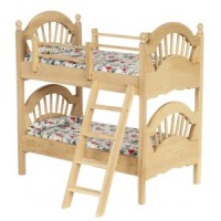 Dollhouse Spindle Bunk Bed - Unfinished - Product Image