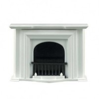 Gray or White Georgian Fireplace - Product Image
