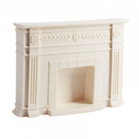 White Dollhouse Federal Fireplace - Product Image