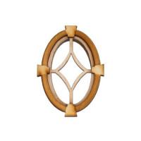 Dollhouse Star Keystone Oval Window - Product Image