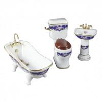 ** Closeout - Reutter Bathroom Set - Royale Blue - Product Image
