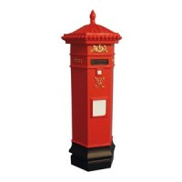 Dollhouse Victorian Postbox - Product Image