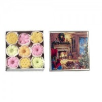 (**) Dollhouse Holiday Tins - Square - Product Image